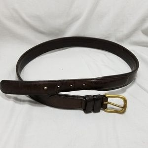 B8,183 Coach Brown Leather Belt Size 34